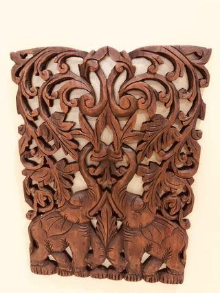 Wood carving from overseas