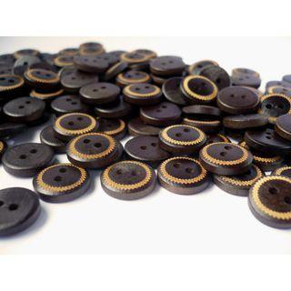 WB10153 - 12mm Mini Simple Design Coconut Button, Coconut Buttons (10 pieces)   #craft
