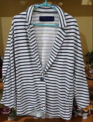 Zara Navy Stripe Jacket