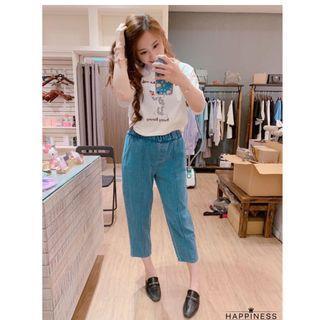 韓國代購 正韓製 丹寧牛仔直筒寬褲 (兩色)