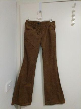 Brown cords flare bell bottom 70s hippie pants