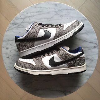 Nike Dunk Low Pro SB Supreme White Cement-Grey