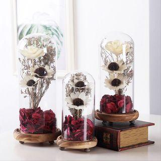 INSTOCK SUNFLOWER IN GLASS DOME