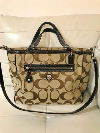 Brand New Authentic Large Coach Signature Tote Purse