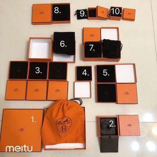 專櫃正品 Hermes 愛馬仕 絨布袋 收納 首飾 耳環 項鍊 pop 紙盒 手環 飾品盒 收納盒 紙盒 防塵袋 禮物 clic