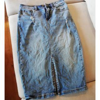 Forever New Denim Skirt size 8