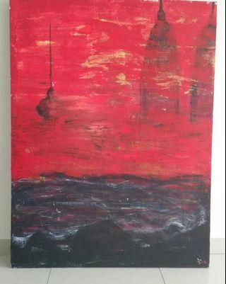 Black Tide Red Sunset