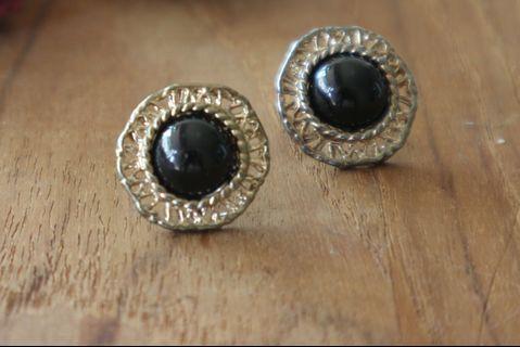 (保留中)耳環|細緻 復古 金色 蕾絲 Vintage