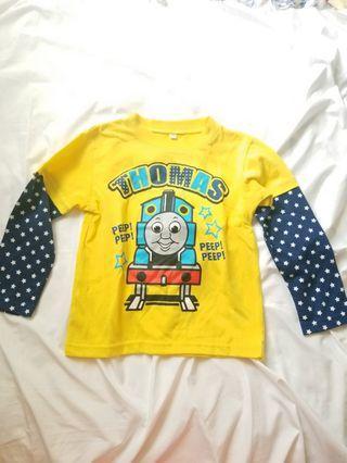 正版thomas size 110 薄長袖 t shirt long sleeves