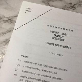 洪偉權 中文卷一模擬卷 連答案