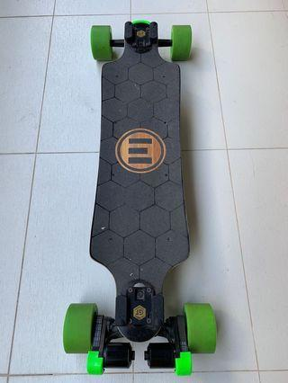 Evolve Bamboo GTX electric skateboard for sale in excellent condition