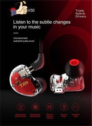 2BA+1DD Hifi Hybrid 6 Drivers Dual Balanced Armature Dynamic Drivers In-ear Earphone Black Without/with Microphone(optional)