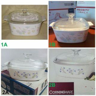 $30-35 Corningware Casserole Pots with Glass Cover
