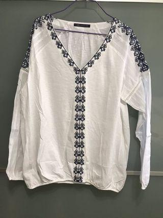Marks & Spencer White Top with embroidery