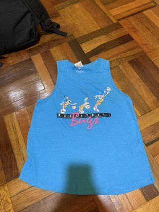 Cotton On Muscle Tank Top Looney Tunes Basketball Bugs