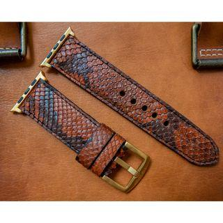 Apple watch strap / band Python leather, Apple watch strap / band 42mm, Apple watch strap / band 38mm, Apple watch strap / band men, Apple watch strap / band leather