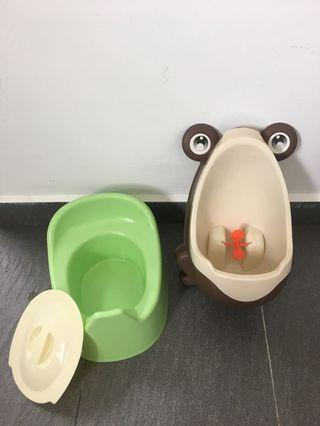 Bundle Sale : Babylove Potty with Cover & Frog Toilet Training Potty #APR10