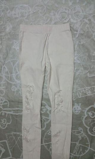 白色長褲 S size