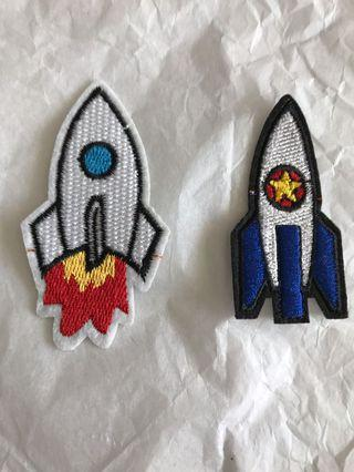 Spaceship Iron on Patches