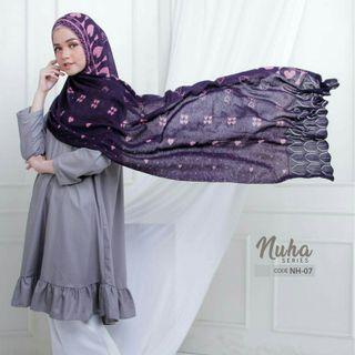 Nuha Travel Knitted Instant Shawl Hijab Tudung Muslimah