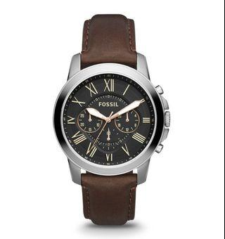 Fossil Grant Men's Chronograph Brown Leather Watch