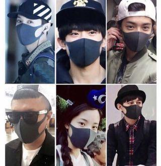 Anti Dust Black Fashion Haze Mask MASK TO TACKLE DUST AND PM PARTICLES