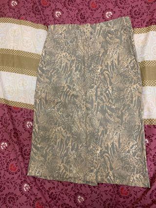 High waist office skirt
