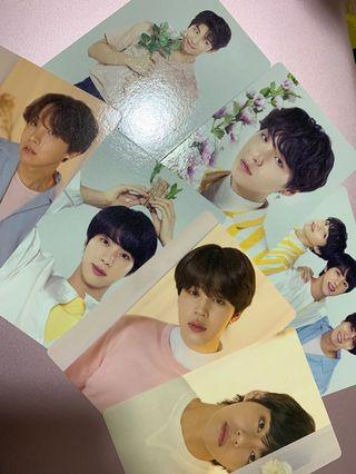 bts official love yourself concert mini photocards