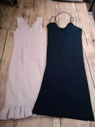 Bodycon knit dress 2pcs