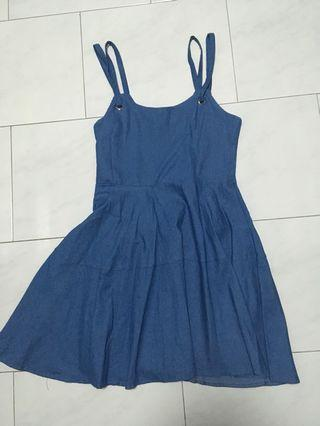 Denim Blue Slip Dress/Overalls/Pinafore #ENDGAMEYOUREXCESS