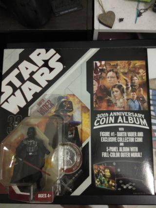 Darth vader with Coin collector book