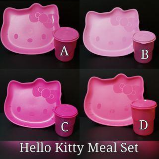23228c55f Instock Authentic Tupperware Hello Kitty Meal Set Hello Kitty Plate (1)  23.5cm (