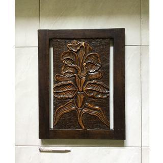 Teakwood carved art
