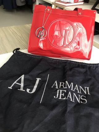 🚚 Armani Jeans Handbag Women's Red (with dust bag)
