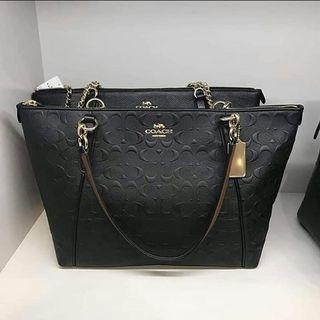 Authentic Coach Kelsey Chain Embossed
