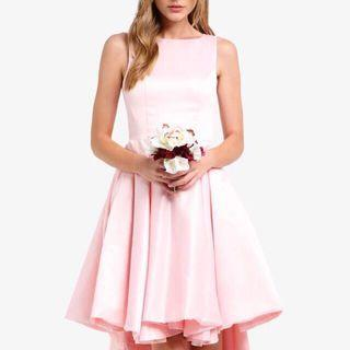 [BUY 1 TAKE 1] Classy Structured High Low Bridesmaids Dress