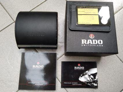 Jam tangan Rado Mulus Komplit