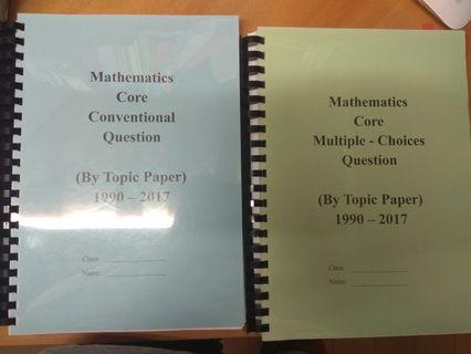 Maths Past Paper by topic