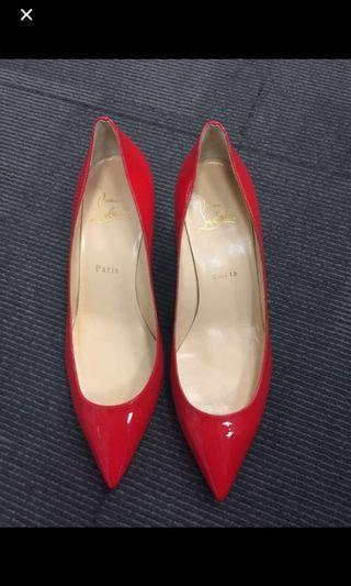 Christian Louboutin red pumps 38.5