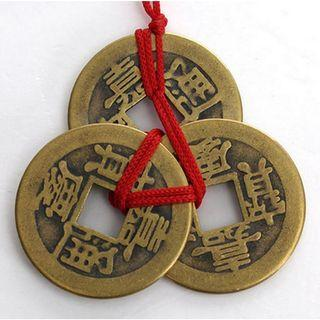 10 Sets Of Chinese Feng Shui Coins For Wealth Success Good Lucky Fortune Wealth dg