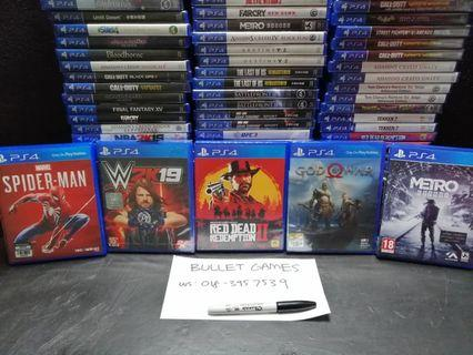 PS4 Games Brand New & Sealed