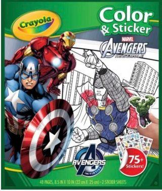 Crayola Marvel Avengers colouring and stickers book