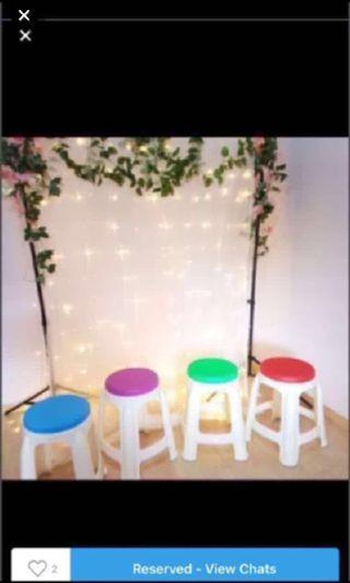 🚚 Plastic chairs / stools5