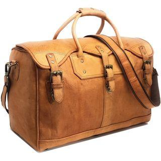 🚚 ✈️ 18-Inch Leather Carry-On Duffel Travel Bag