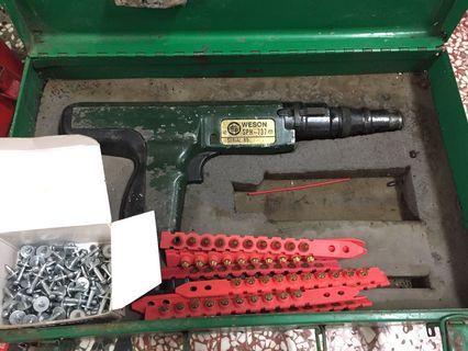二手工具 火藥 擊釘槍 火藥槍 附釘子/火藥/鐵箱 槍擊釘器 鋼釘 非 喜得釘 喜得利