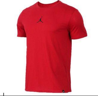 全新 Air Jordan 短袖 紅底黑Logo 全新台灣公司貨 Size:L