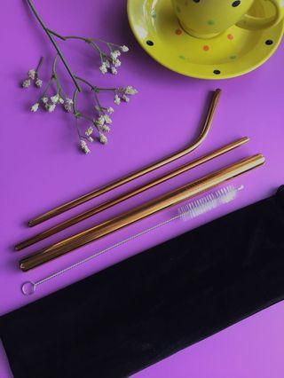 Stainless Straw Rosegold