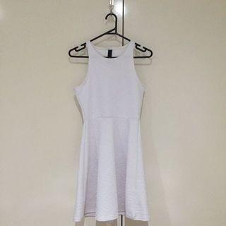 FACTORIE Size Small White Skater Dress