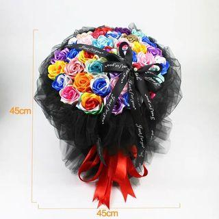 Satin ribbon Flower Bouquet