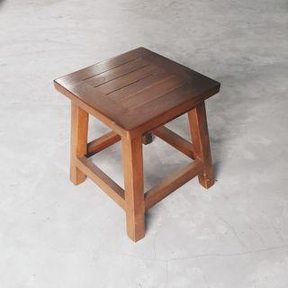 Solid Teak Short Stool FOR SALE